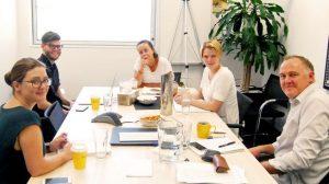 CJZ meeting in Screenrights meeting room