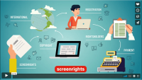 Animation graphics from Screenrights explainer video